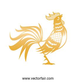 golden rooster for chinese new year celebration