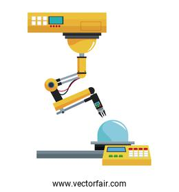artificial intelligence machine at industrial manufacture factory