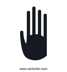 pictogram hand stop signal image