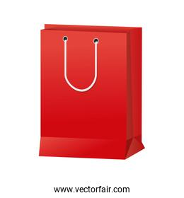 red paper bag gift present package empty