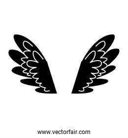 wings feathers angel bird freedom pictogram