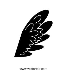 wing feather fly decoration symbol emblem pictogram