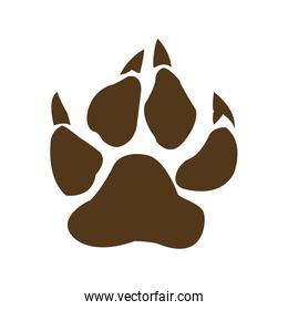 bear paw with claws vector illustration