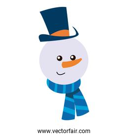 snowman christmas character winter hat scarf carrot