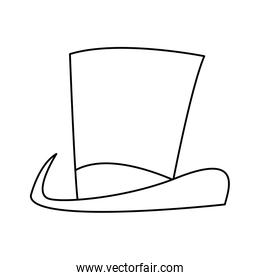 top hat snowman on white snow background