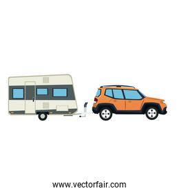 suv car and trailer camping adventure travel