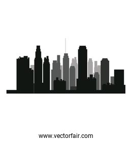 buildings silhouette. urban landscape. american cityscape with landmarks. skyline background.