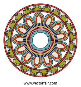ornate abstract color mandala element. wallpaper, pattern fills, surface textures