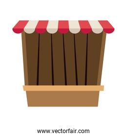 circus game booths border wooden blank