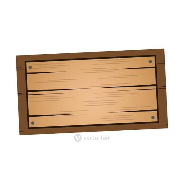 wooden board, old style blank icon
