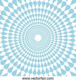 round seamless pattern abstract decoration element