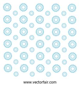 seamless pattern. modern stylish texture. repeating blue flower ornament