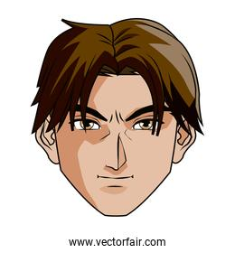 anime style male character head