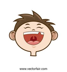 laughing boy face kid happiness expression image