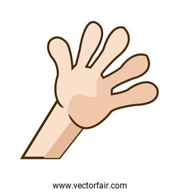 kid hand showing a five count image
