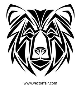 bear tribal tatto animal creativity design