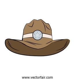 old western sheriff hat star clothing icon