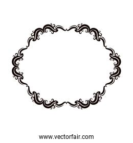 vintage baroque frame scroll floral ornament border retro pattern antique style swirl decorative design