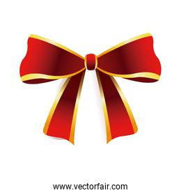 red bow golden border decoration christmas element