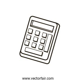 calculator equipment math count outline icon