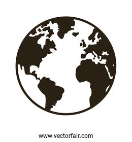global earth map world geography line style icon