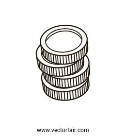 coins stack money currency bank concept vector design