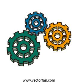 business gears mechanism concept. connected strategy, vector illustration