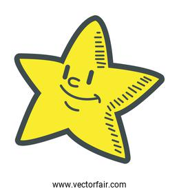 smiling little star cartoon character image