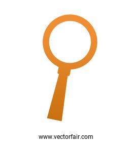 yellow magnifier search find research glass