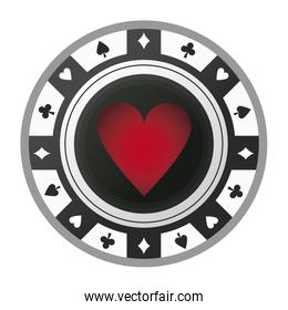casino chip vintage style ace, poker game icon