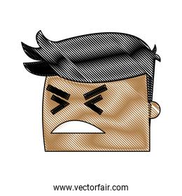avatar man angry success. emotion face, expression, success person angry
