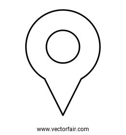 map pin icon, direction gps element search