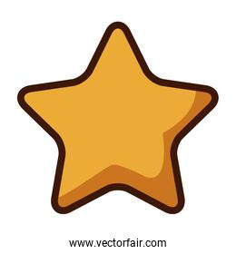 gold star icon cartoon game style