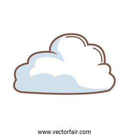 cartoon cloud natural climate weather icon