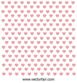 seamless pattern with pink hearts abstract background
