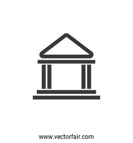 isolated building bank safe money financial symbol