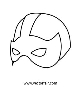 super hero mask for face character in flat style vector illustration