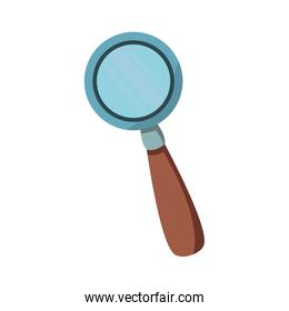 magnifying glass magnifier or loupe icon