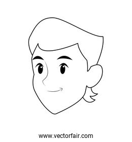 faceless person portrait young cartoon icon