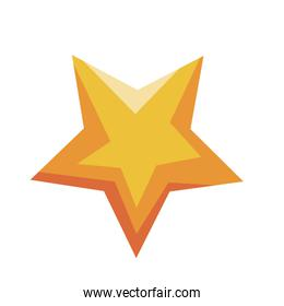 gold star award quality decoration icon