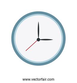 round clock time hour date icon
