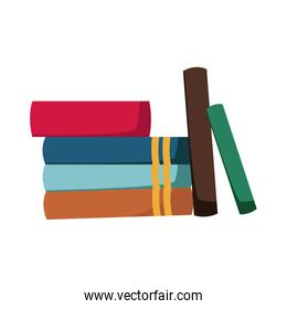 stack of books collection library image