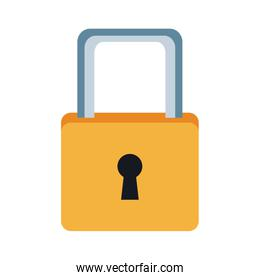 cyber security padlock access technology concept