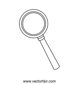 magnifying glass icon magnifier or loupe sign