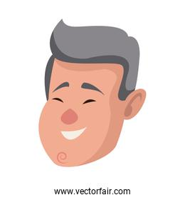 man face character people flat design