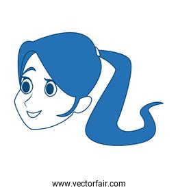 profile woman head character caricature image