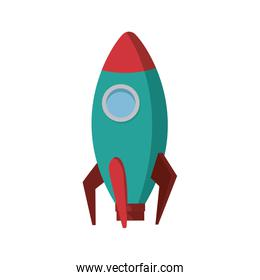 business startup launch concept rocket icon