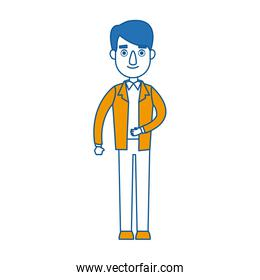 standing man business character professional