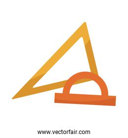 school set with ruler triangle protractor plactic supplies