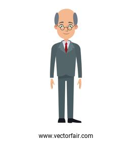 cartoon business man cartoon character young male professional vector illustration